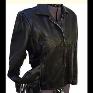 Gypsy leather riding jacket